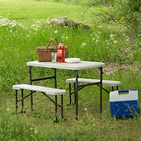 lifetime 80373 portable folding picnic table and bench set