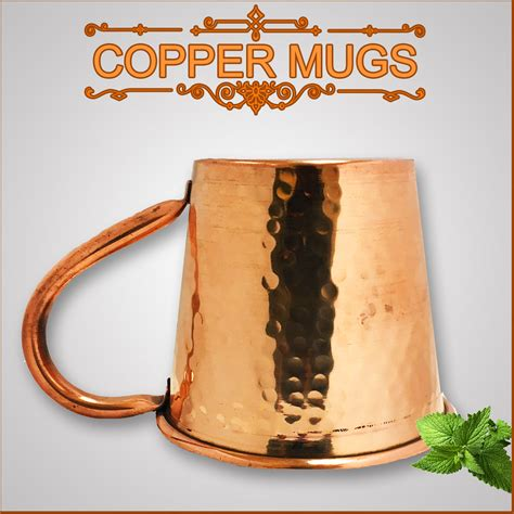 Handmade Copper Mugs - set 4 hammered copper moscow mule mug handmade 100