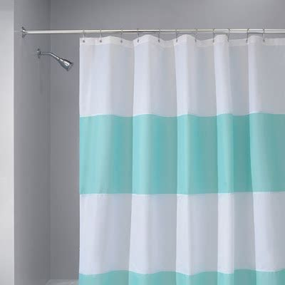 tiffany blue bathroom set interdesign zeno wp shower curtain in blue white