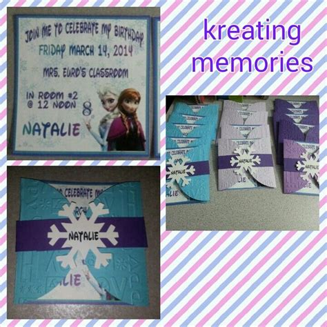 Handmade Frozen Invitations - handmade invitations frozen invitations