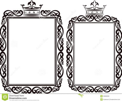 Border Clipart 1255757 Illustration By by Royal Border Stock Vector Image Of Contour Crowns