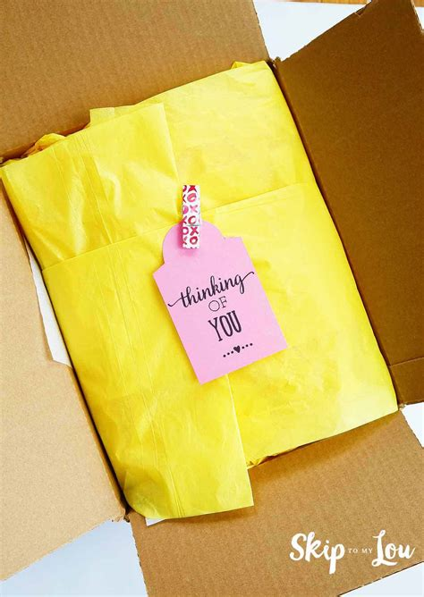 care package ideas  printables skip   lou