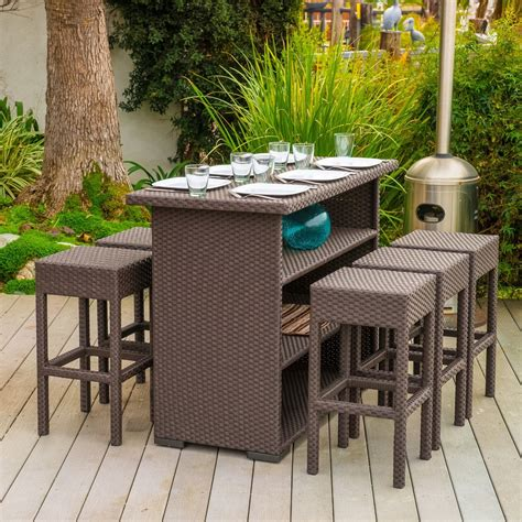 Patio Furniture Bar Sets Bar Patio Newsonair Org