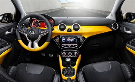 opel adam interior car and driver