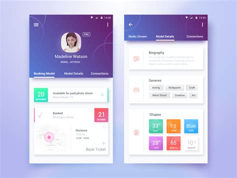 home screen design inspiration android profile screen ui design inspiration on air code