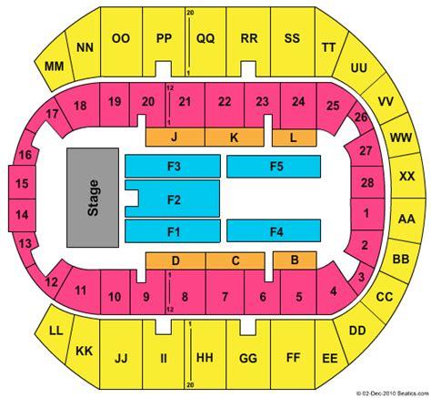 ms coast coliseum seating chart concert venues in biloxi ms concertfix