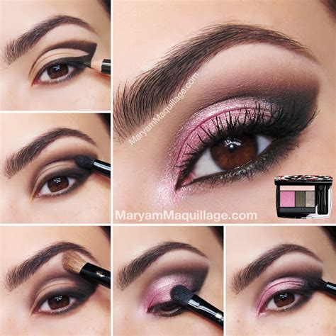 tutorial duo eyeshadow maryam maquillage quot rose coquette quot flirty smokey eye