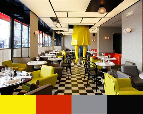 Funky Cafe Interiors by 30 Restaurant Interior Design Color Schemes