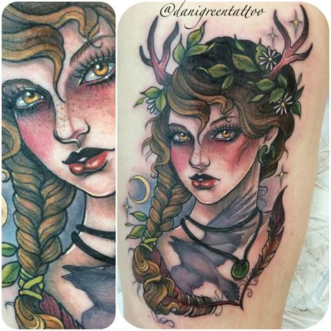 nordic goddess freya interpretation by dani green at