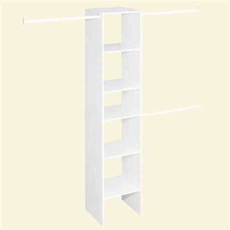 closetmaid selectives narrow  ft   ft custom closet