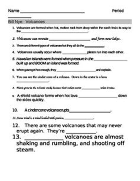 bill nye storms worksheet bill nye volcanoes worksheet answer sheet and two the knownledge