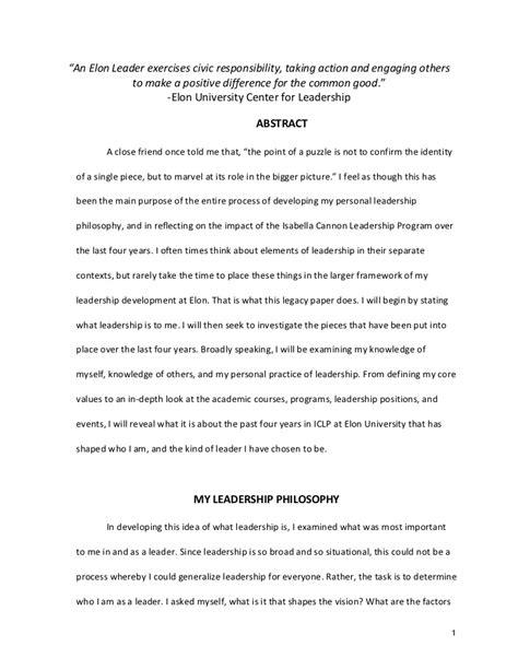 Exle Philosophy Essay by Personal Philosophy Essay Exles