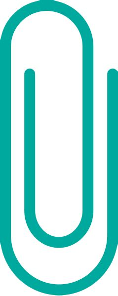 vector clip turquoise blue paper clip vector data svg vector
