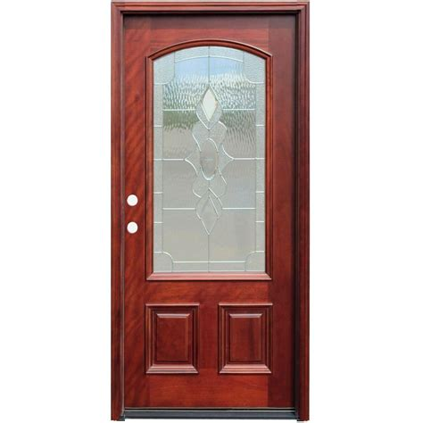 tremendous wood door with glass lite single door doors