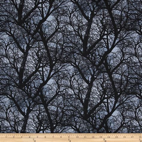 timeless treasures trees black discount designer fabric