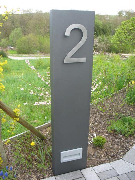 Hausnummer Weiß Metall by Stelen Aus Metall F 252 R Jeden Garten Ein Muss