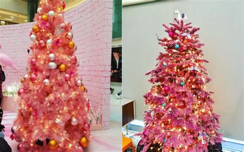 pink christmas trees are all the rage this year and we are