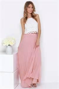 Blush Pink Maxi Skirt Blush Skirt Pleated Skirt Maxi Skirt 64 00