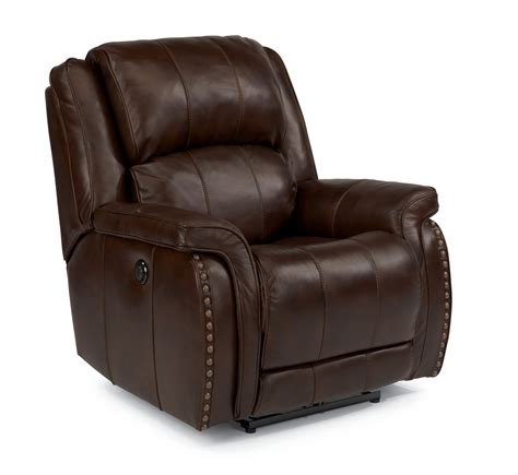 power leather recliner flexsteel living room leather or fabric power recliner
