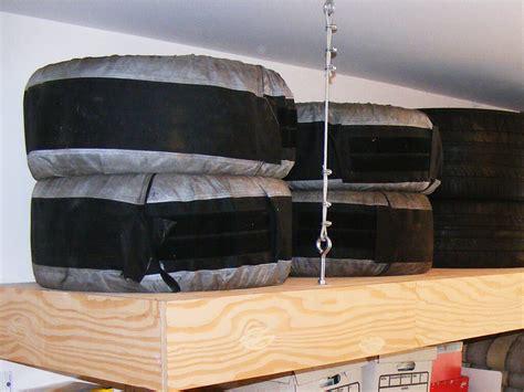 Tire Rack Storage For Garage by Tire Storage Nuvo Garage