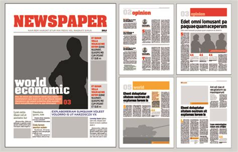 newpaper card ad templates typesetting newspaper vector templates 02 vector