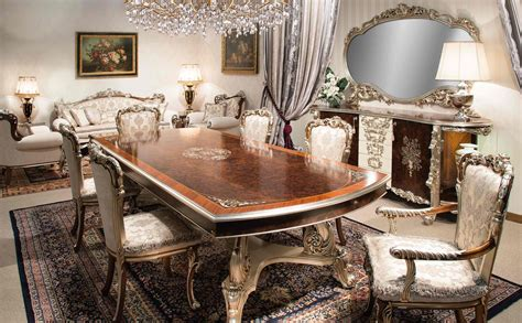 Classic Dining Room Furniture Italian Classic Dining Room Furniture With Large Rugs And 6 Chairs Nytexas