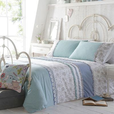 at home light turquoise lorna bedding set