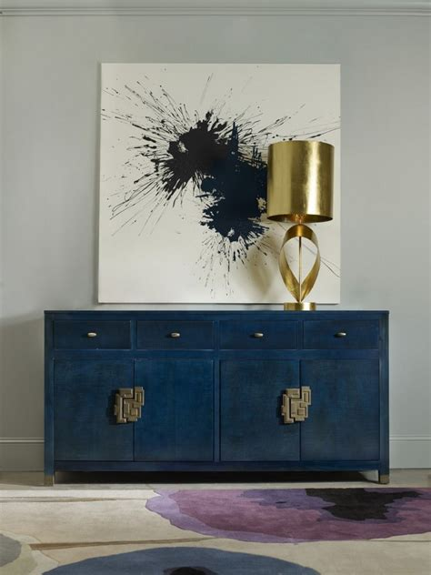 navy blue buffets and cabinets for this - Asiatische Sideboards