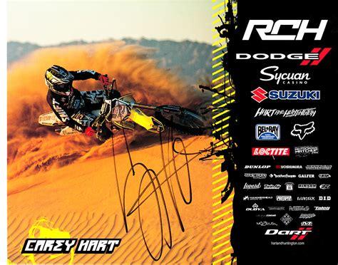 signed motocross carey hart autographed 8x10 motocross or supercross promo