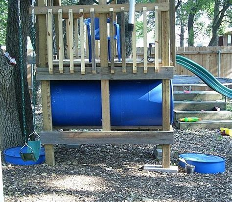 swing set tunnel how to make a barrel train ehow