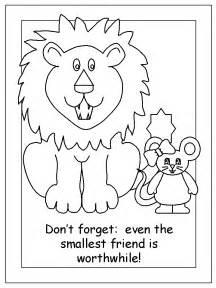 lion mouse classic tales lion templates mice