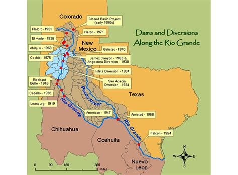 where does the colorado river start and end visuals dams and diversions along the grande