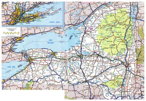 state of new york map with cities image gallery new york state cities