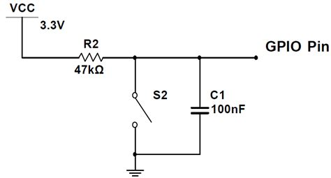 capacitor resistor circuit switch debouncing tutorial with hardware c code