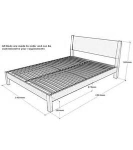 Standard Bed Frame Sizes Hamsterly Solid Oak Bed 4ft 6