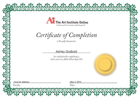 Blank Certificate Of Completion Template : Helloalive