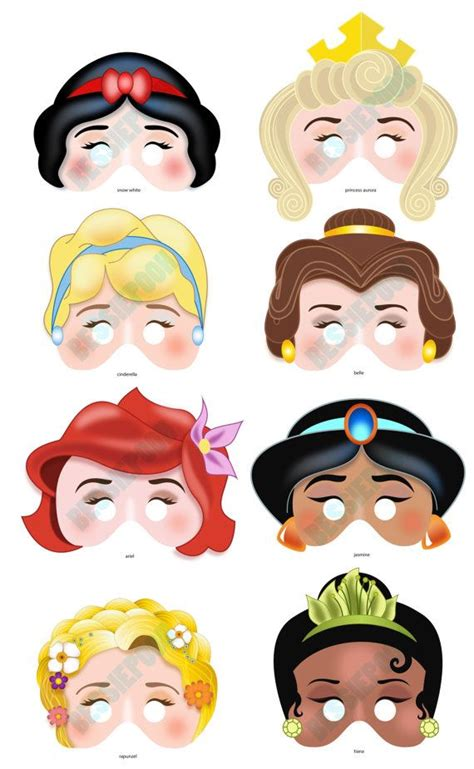 printable masks princess disney princess printable mask i know princesses who