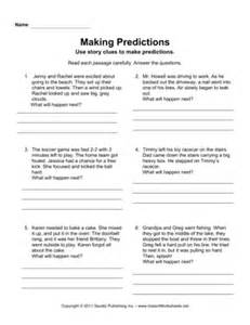 making predictions instant worksheets