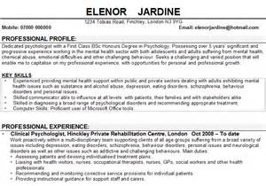 sample cv for psychologists