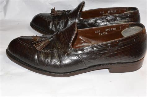 footjoy loafers footjoy reptile tassel loafers classic vintage apparel
