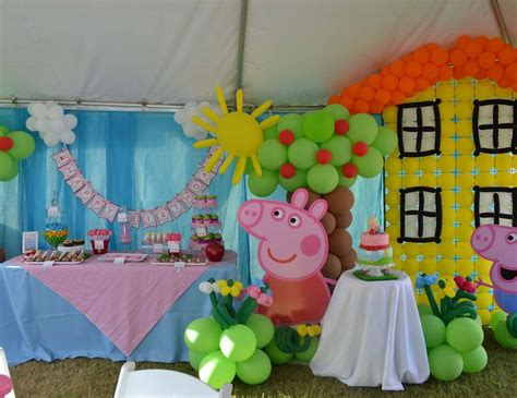 peppa pig fiesta de fiesta tematica de peppa pig