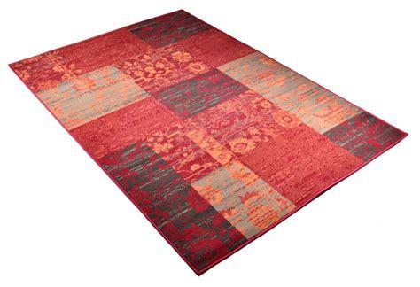 teppich paradies velours design teppich paradise patchwork rot ebay