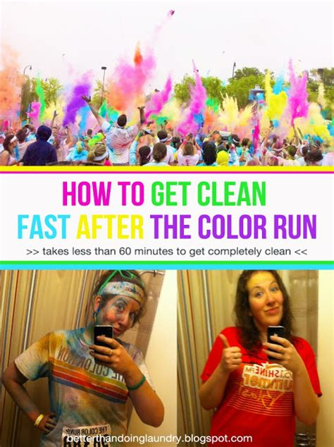 color run ideas better than doing laundry how to get clean fast after the