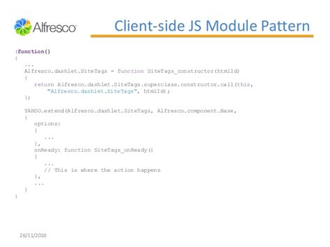 js module pattern constructor extending alfresco share 3 3