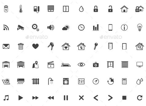 home automation smart home icon set vector by dilyanah