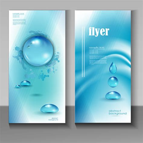 flyer design water creative water flyer cover vector material 04 vector
