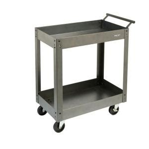 husky 31 in steel utility cart 2 tray pmt 102r3 the