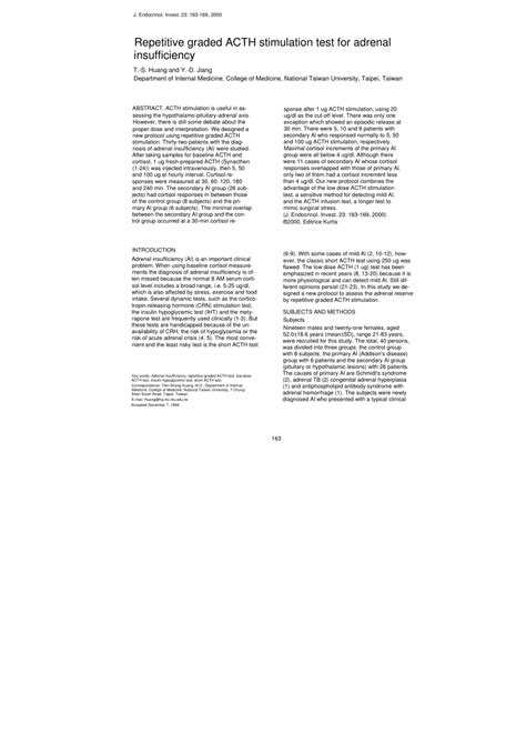 test al synacthen repetitive graded acth stimulation test pdf