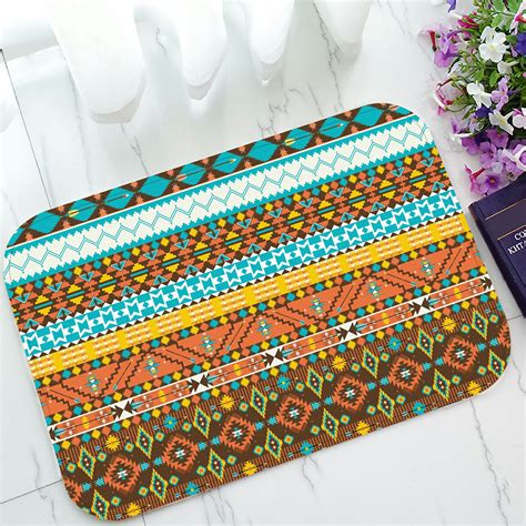 colorful doormat phfzk geometric doormat colorful aztec bohemian style