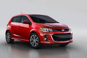 refreshed 2017 chevrolet sonic revealed ahead of new york